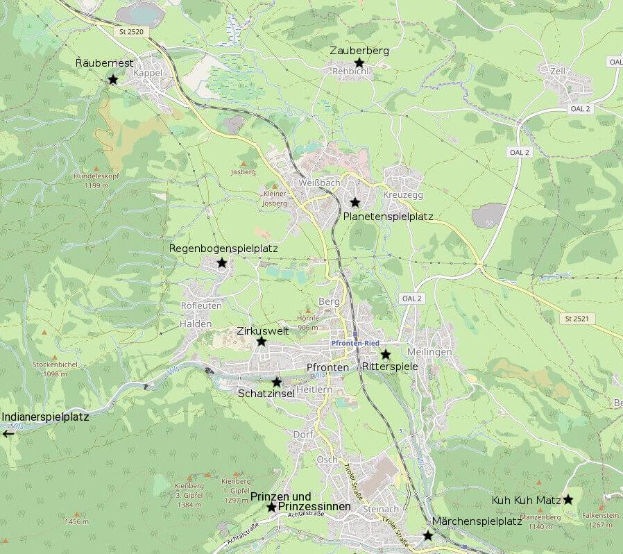 Allgau Erleben Karte Zu Pfronten