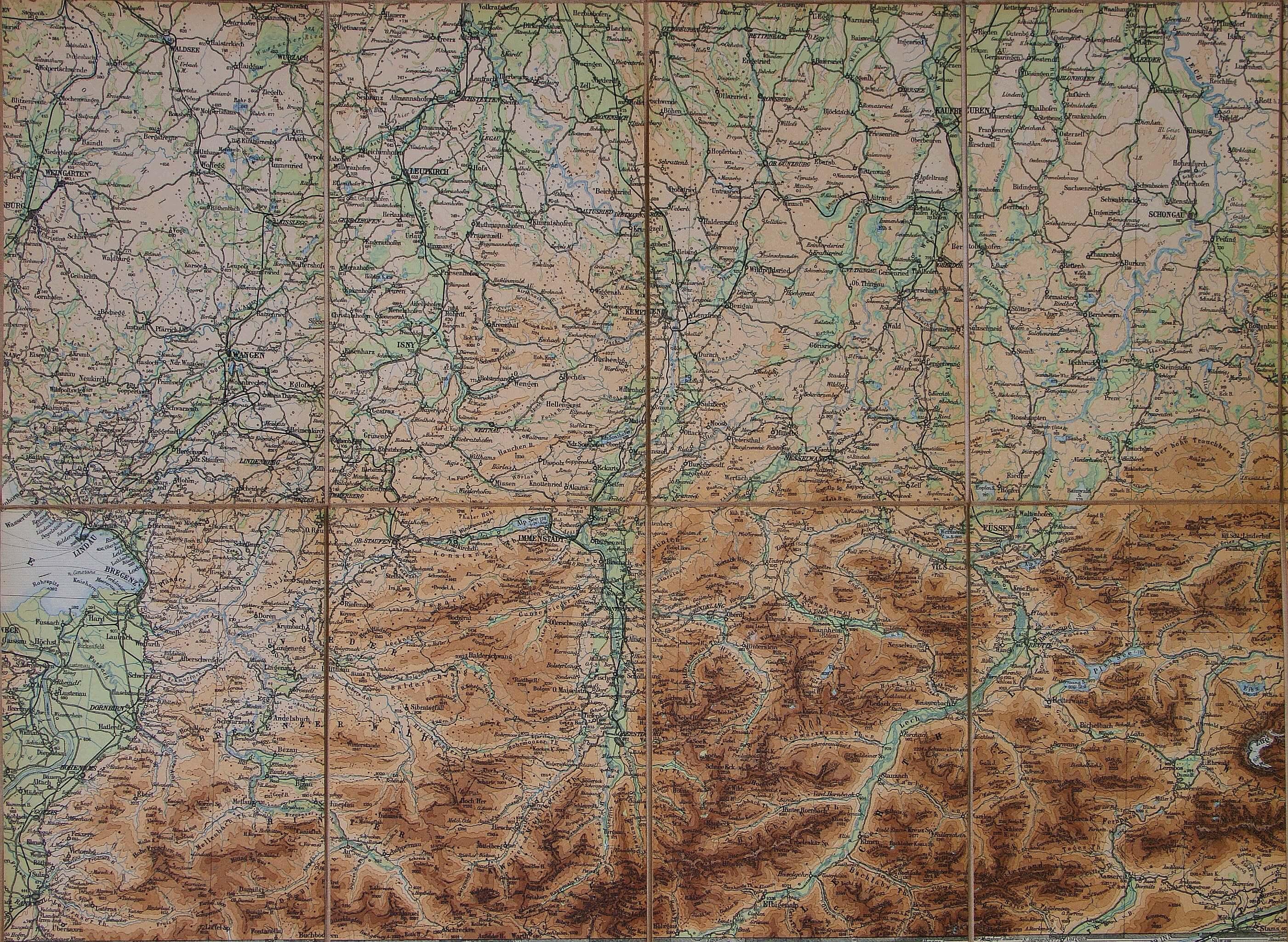 Allgäu erleben - Alte Landkarten - Oberstdorf Karte Deutschland