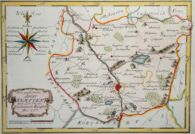 Allgau Erleben Alte Landkarten